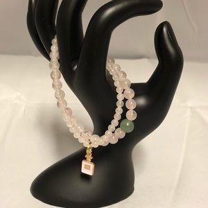 Jewelry - Rose Quartz Two Piece Bracelet Set